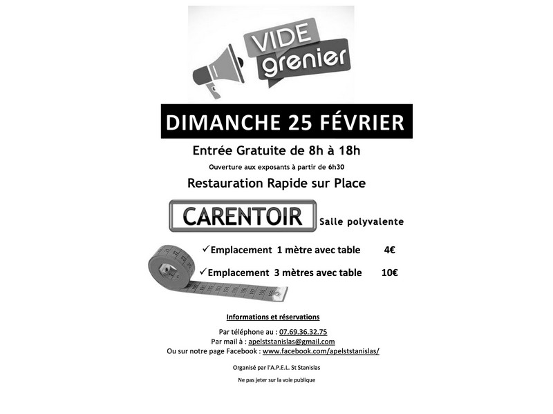 Vide grenier à Carentoir