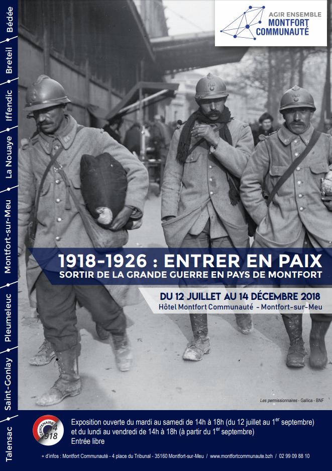 1918-1926 : Entrer en paix, sortir de la Grande Guerre en Pays de Montfort